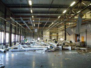 fabriek ontruimen